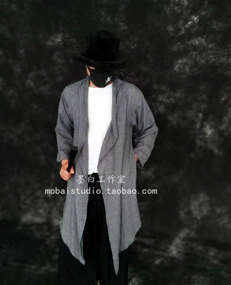Mùa xuân và mùa hè của nam giới dark phong cách Trung Quốc ánh sáng và thanh lịch ve áo dài tay kem chống nắng áo gió nam giới và phụ nữ mô hình mở áo dài