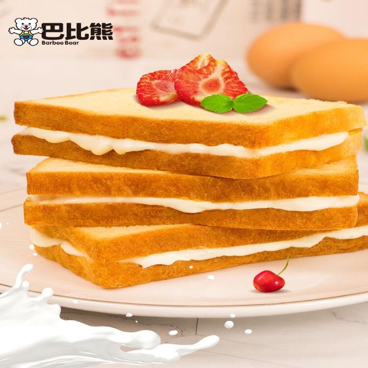【巴比熊】奶酪吐司夹心面包550g