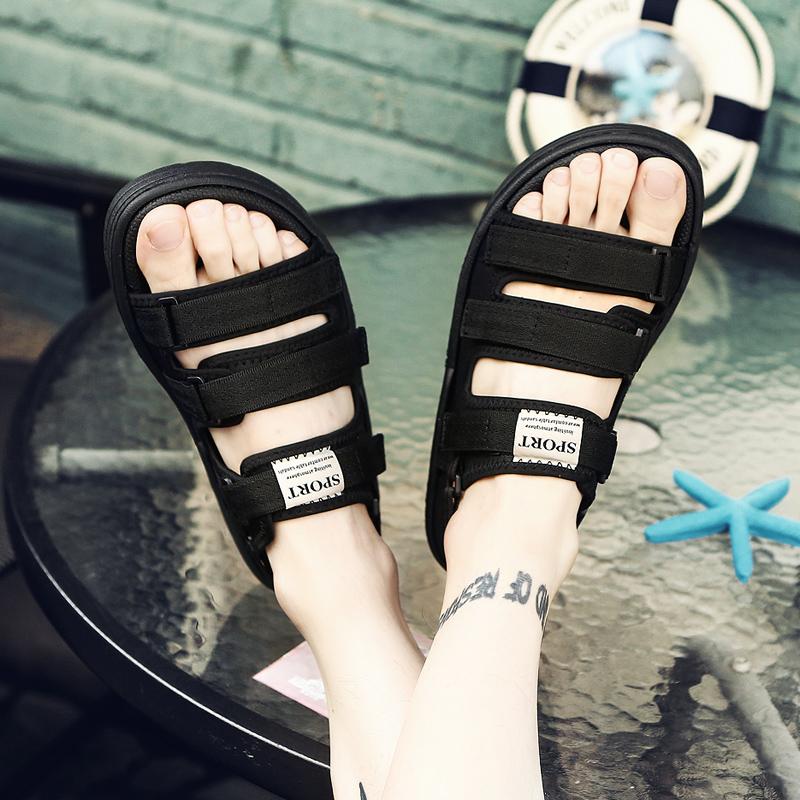 2018 dép mùa hè mới của nam giới thường giày bãi biển xu hướng ngoài trời dép mùa hè và dép bên ngoài mặc dép Việt Nam