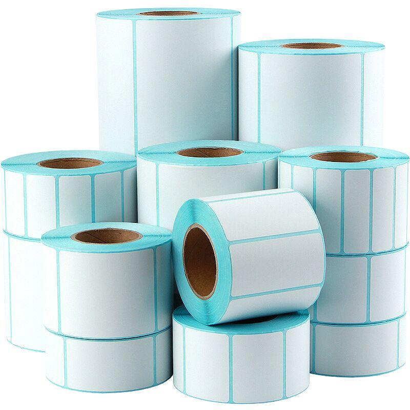 速易打三防熱敏標簽紙60*40 30 100*100不干膠條碼打印紙E郵寶電子秤紙物流貼紙防水卷紙可印刷定制