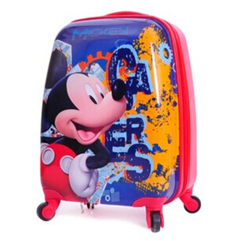 Детский чемодан на колесиках Принцесса льда романтика тележка Камера женщина мило детей, Путешествия пакеты сумки тащили чемоданы интернат мешок почта