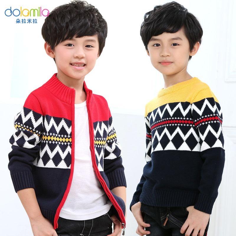 4.9分!朵拉米拉 男童 100%新疆长绒棉 针织衫