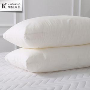 凯盛家纺 亲肤舒适蓬松纯棉纤维枕芯 全棉枕头一对拍2