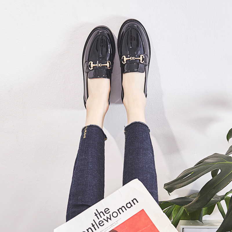 4d46ec9f30 British wind small shoes women 2019 spring new net red single shoes ...