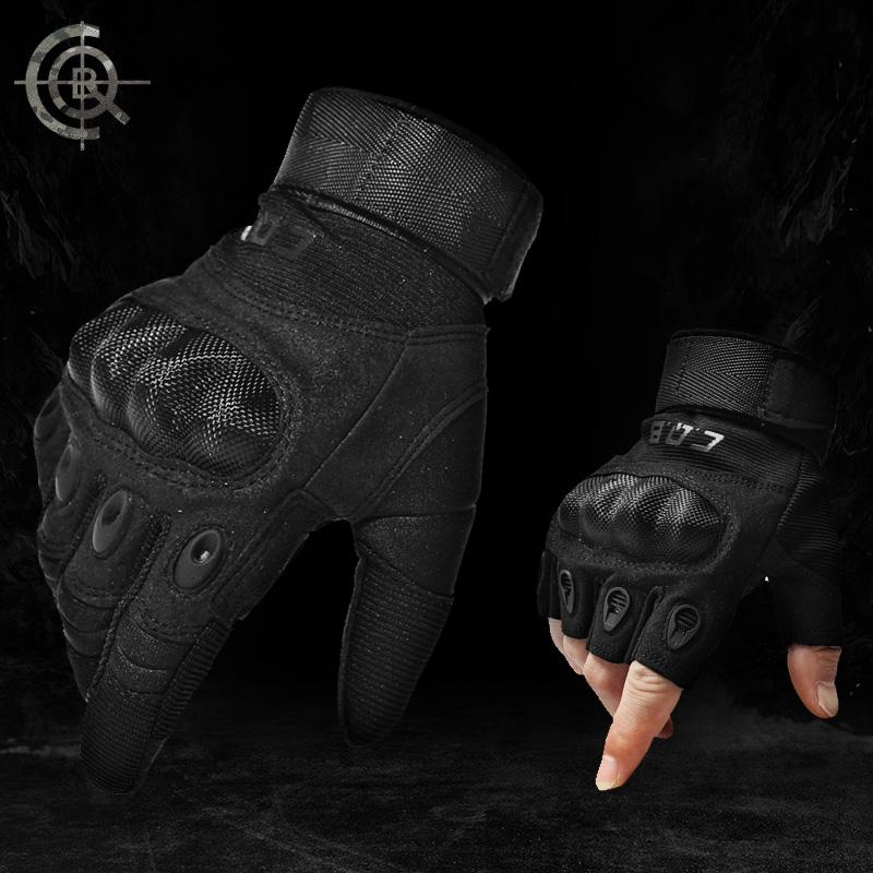 Cqb аутентичные семена солдаты перчатки износостойкие противоскользящие верховая езда восхождение на открытом воздухе мужчина половина пальца все фондовые индексы армия фанатов тактический перчатки