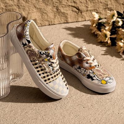 【双11】Vans范斯官方 彩色图案拼接腰果花小众小雏菊Era帆布鞋