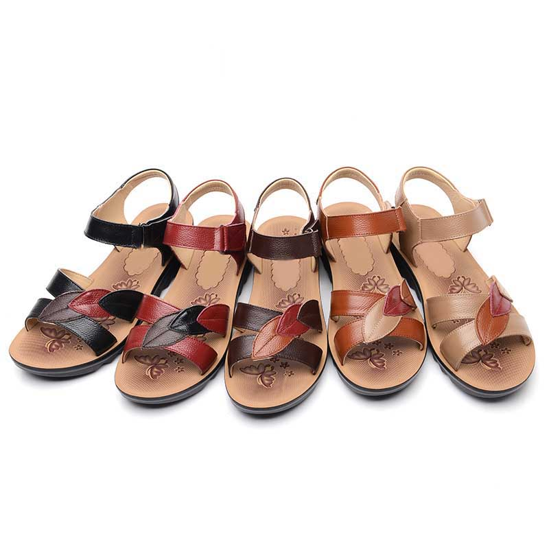 49760e08b6f129 USD 57.27  Mother sandals female summer flat in the middle-aged and ...