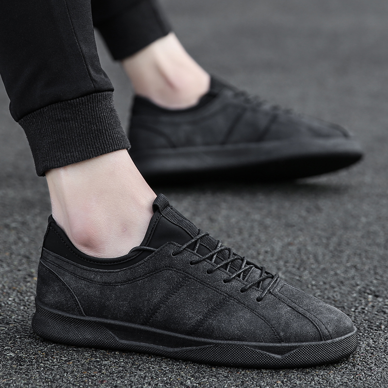 2018 new spring men's shoes Korean version of the trend of students wild canvas shoes men's sports and leisure social tide shoes