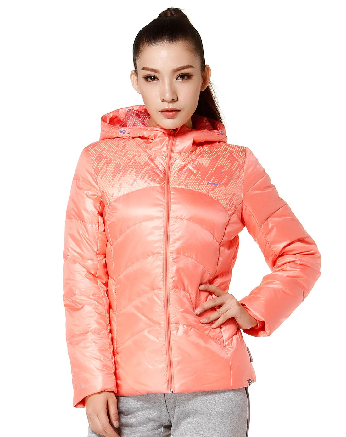 Manteau de sport femme LINING AYMH026-1 - Ref 505531 Image 6
