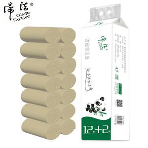 【帝洁】竹浆本色卷纸14卷