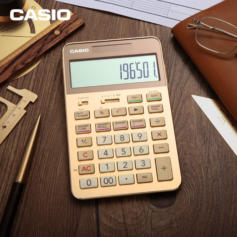 Casio Calculator S200 Products Gold High End Gift Business Box White Collar To