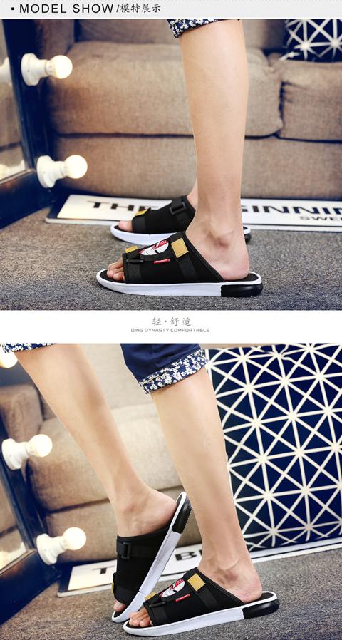 拖鞋男夏季新款防滑软底外穿凉鞋一字拖沙滩鞋夏天潮流个性凉拖鞋详细照片