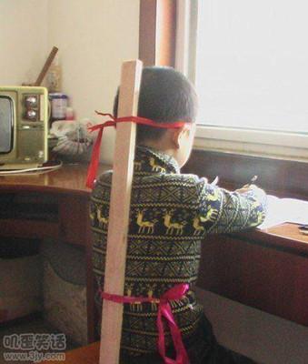 搞怪儿童图片武士