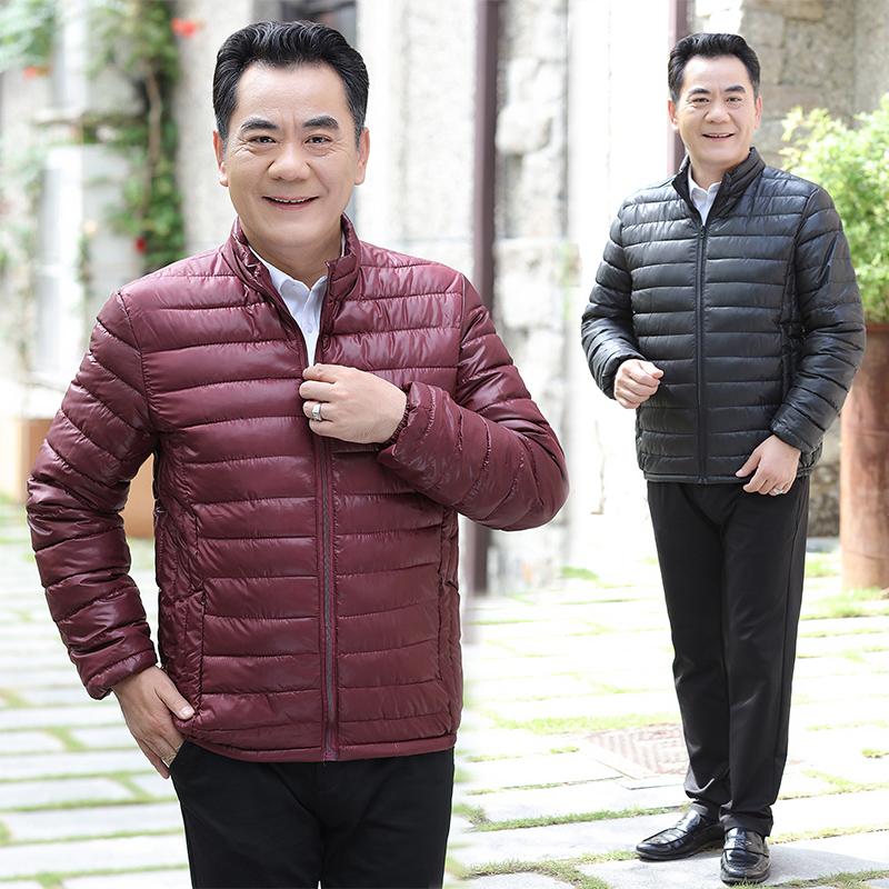羽绒棉衣爸爸装长袖外套服