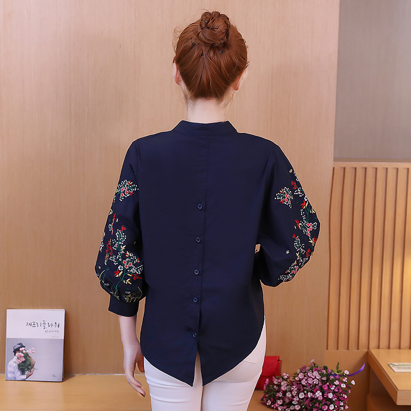 9bf9c6758e2 ... embroidery doll shirt seven sleeves collar cotton and linen spring and  · Zoom · lightbox moreview · lightbox moreview · lightbox moreview ...