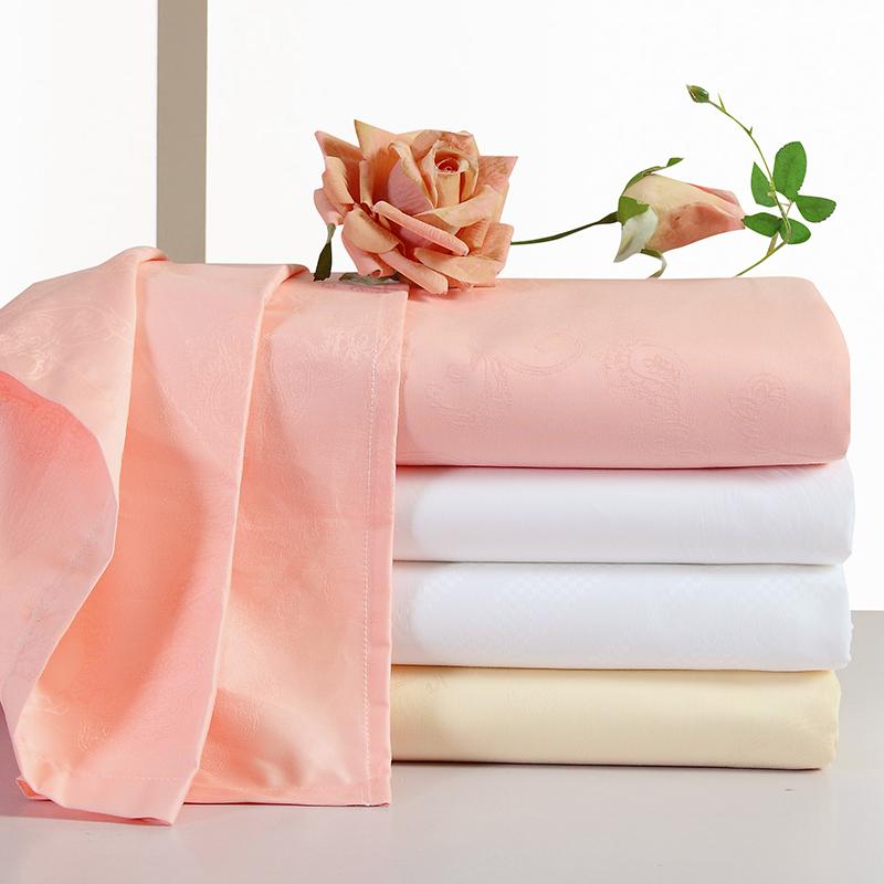 栋轩贡缎提花全棉床单单件 纯棉床单白色60支纯色单双人床单床笠