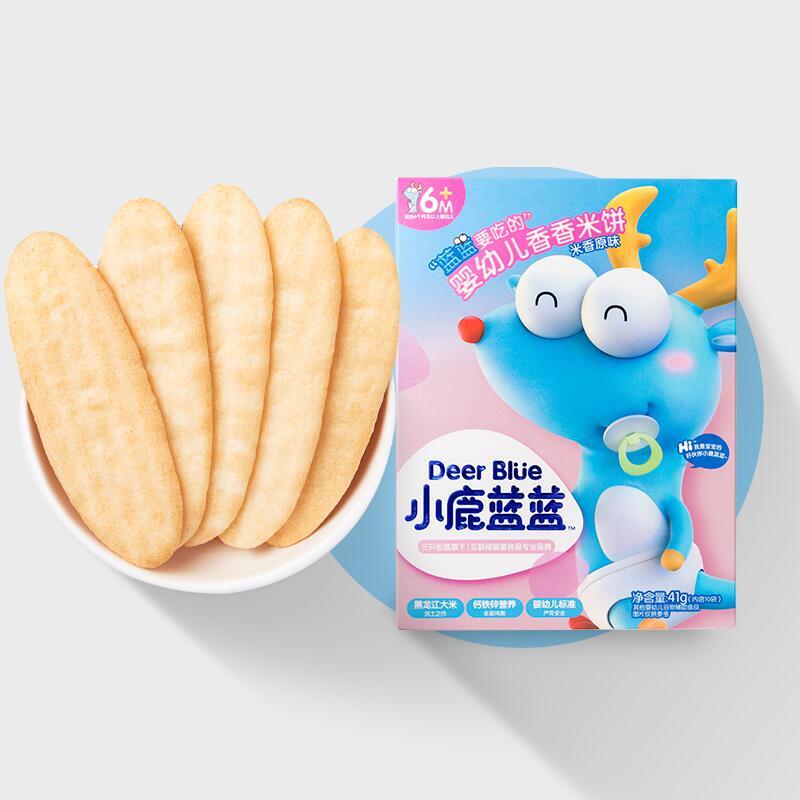 【小鹿蓝蓝】婴幼儿辅食米饼磨牙棒