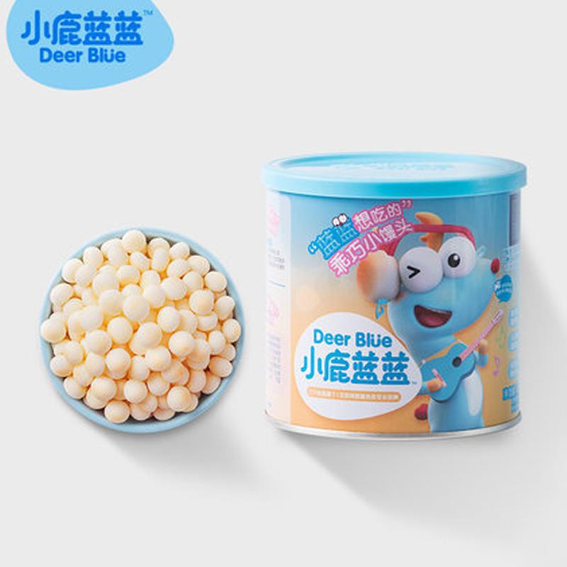 【小鹿蓝蓝_小馒头2罐】宝宝饼干奶豆磨牙零食送12月婴儿辅食食谱