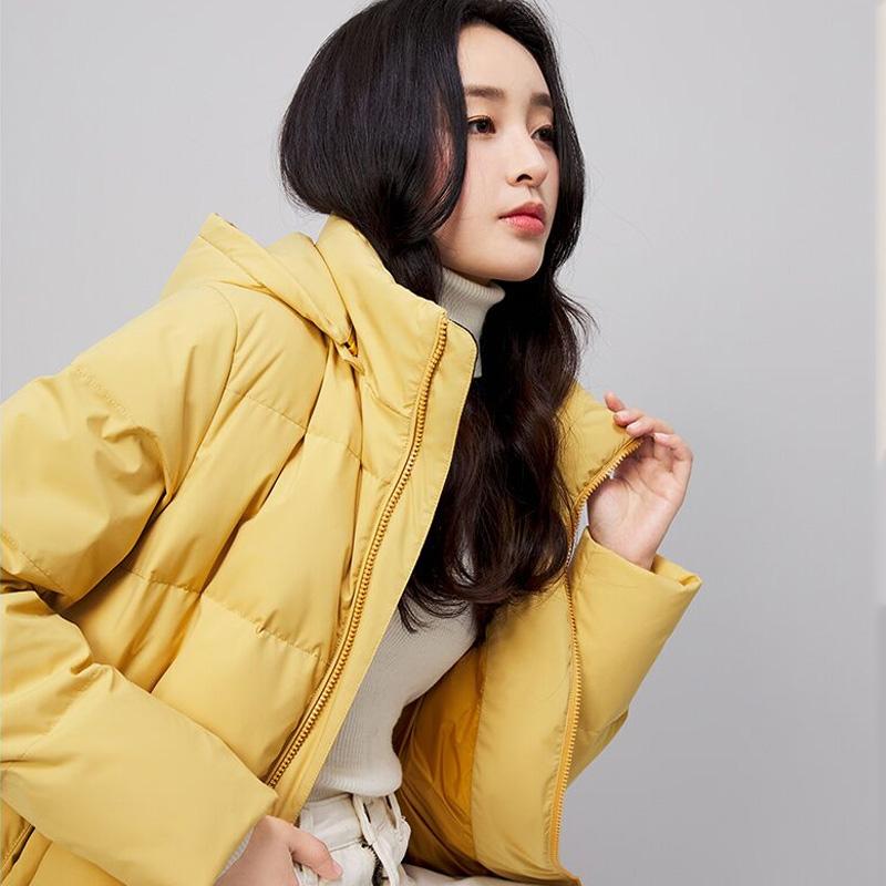【雪中飞】2021秋冬新款女士中长款羽绒服