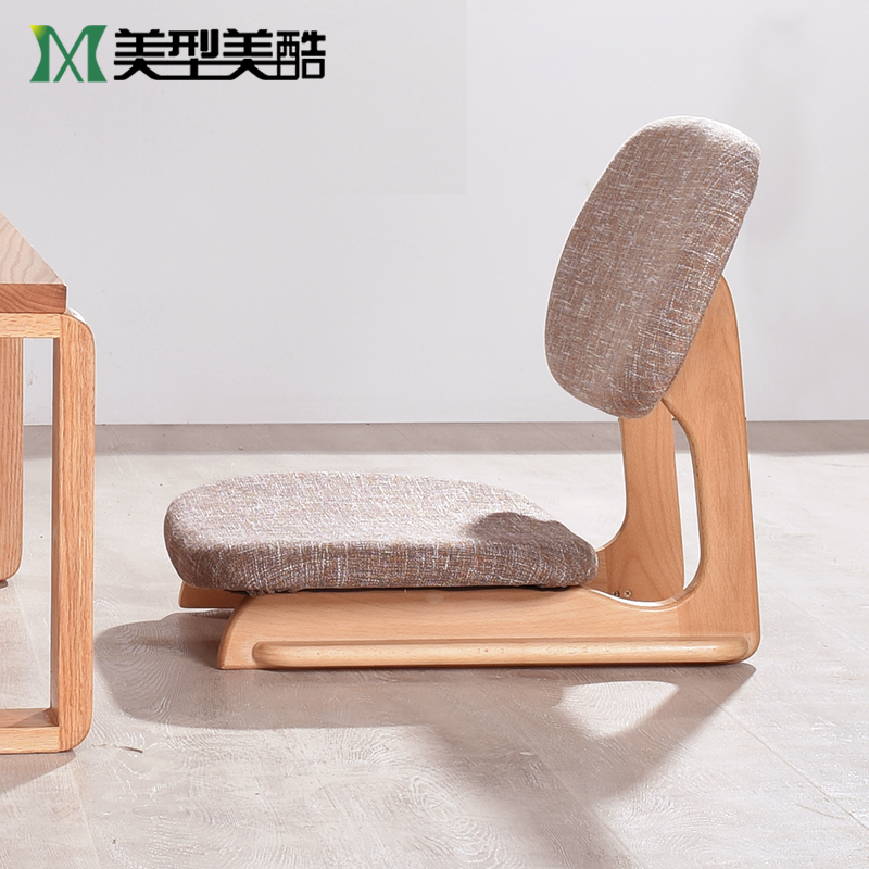 Solid wood tatami chair Japanese-style chair single chair chair floor and room chair balcony bay window bed floor chair & Solid wood tatami chair Japanese-style chair single chair chair ...