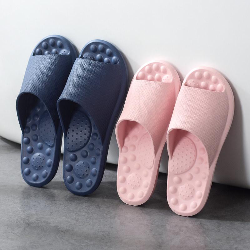 男士女夏季室内拖鞋软底家居情侣厚底家用v男士防滑洗澡拖鞋凉浴室