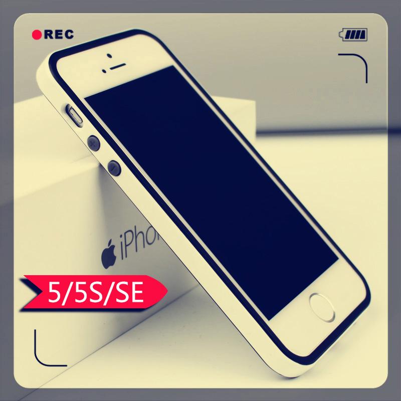 苹果5s手机壳男iphone硬边框 se女款极简约潮流硅胶SGP韩国大黄蜂