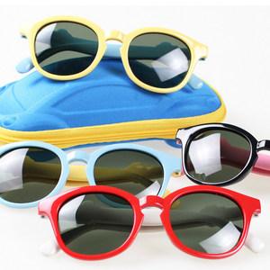 2018新款儿童太阳镜防紫外线男女童潮个性墨镜偏光太阳眼镜3-12岁
