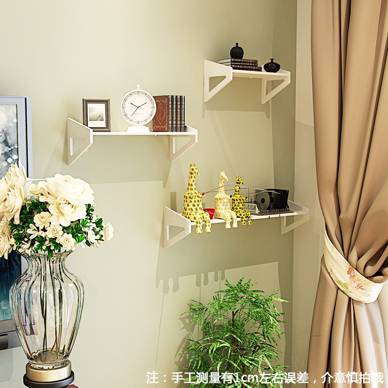 Wall shelf free punching Bedroom decoration simple flower rack wall ...
