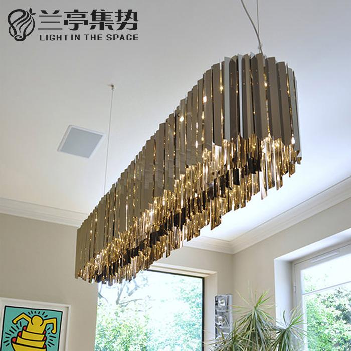 蘭亭集勢后現代吊燈個性創意不銹鋼客廳餐廳裝飾設計師樣板房吊燈