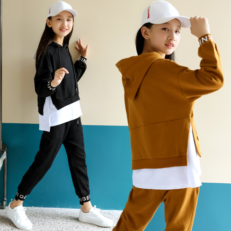 5a61d66aa25 Girls spring 2019 new fashion suit children s clothing 12 Leisure 15-year-old  girl 13 foreign 14 Korean tide clothing