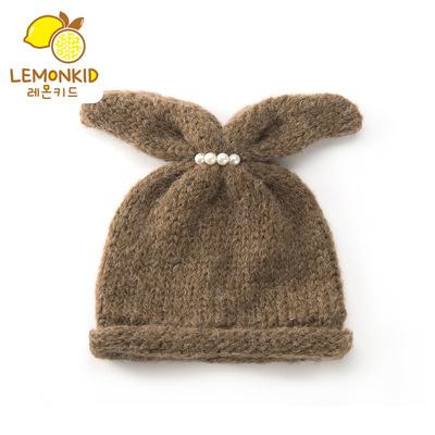 【柠檬宝宝】冬季儿童套头帽可爱加绒毛球