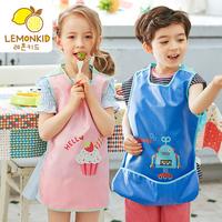 【柠檬宝宝】儿童背心罩衣围裙吃饭围兜