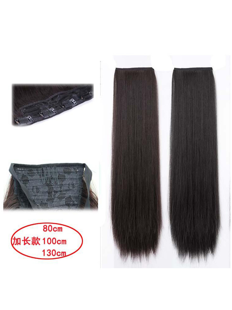 Custom             Ancient costume wig one piece lengthened straight hair piece ancient style cos fairy style thickened hair extension piece Hanfu style