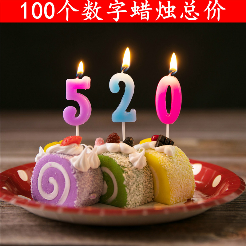 Birthday Candles Party Cake Supplies Creative Smokeless Small Childrens Decoration Digital