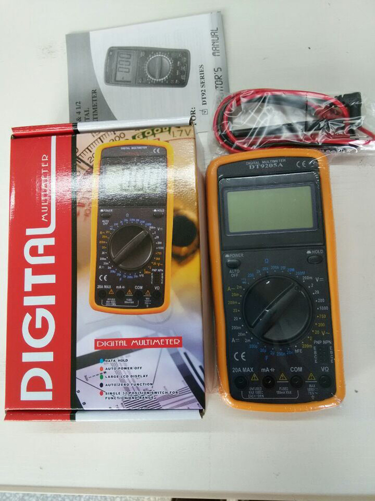 Digital multimeter dt9205a 2 with soft sheath measurable capacitance,  warranty for one year