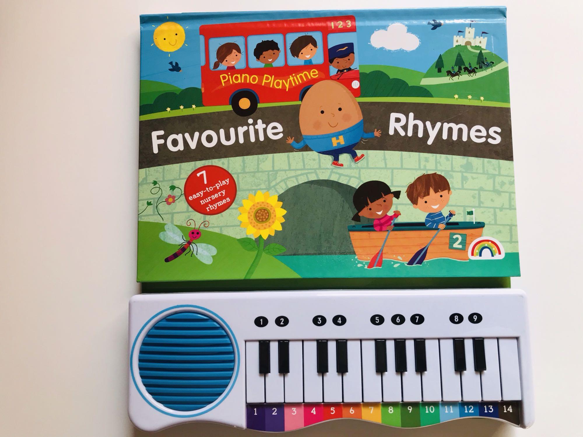 Favourife rhymes 英文钢琴书纸板7首钢琴儿童玩具书