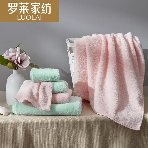 罗莱家纺家居用品毛巾面巾浴巾FD1632柔软呵护礼盒