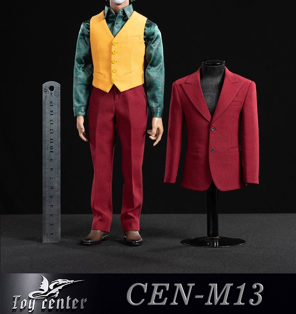 Evil The Joker Clothes Set Outfit 1//12 for Mez 6 in Action Figure Accessory