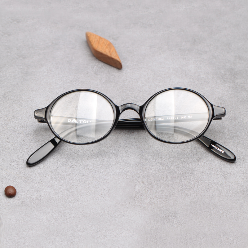 510929f0618 Small glasses glasses oval eye frames handmade glasses myopia small face  glasses frame personality small round