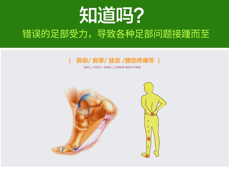 扁平足矫正鞋垫足弓支撑纠正男女平底足平足矫形腿型脚偏平足弓垫