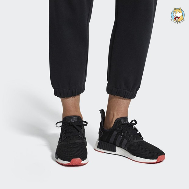 premium selection ef634 b7645 Adidas NMD R1 Boost Clover Black and White Running Shoes CQ2411 CQ2412