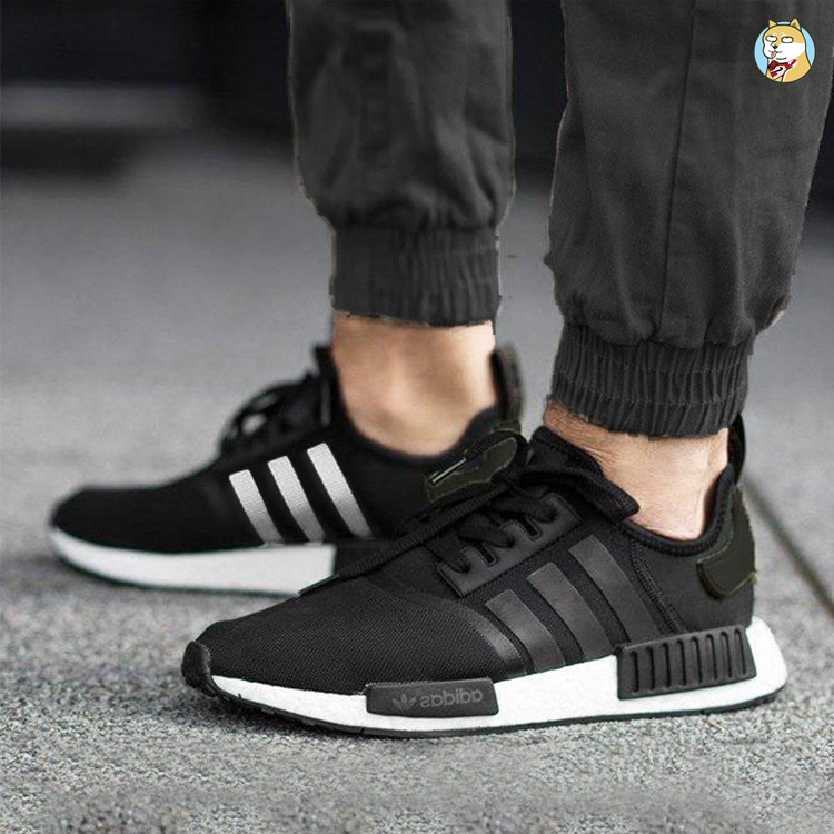 promo code 888fe 49cfa Adidas NMD R1 Boost Clover Black and White Running Shoes ...
