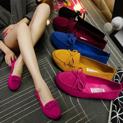 老北京女士豆豆鞋软底一脚蹬懒人单鞋