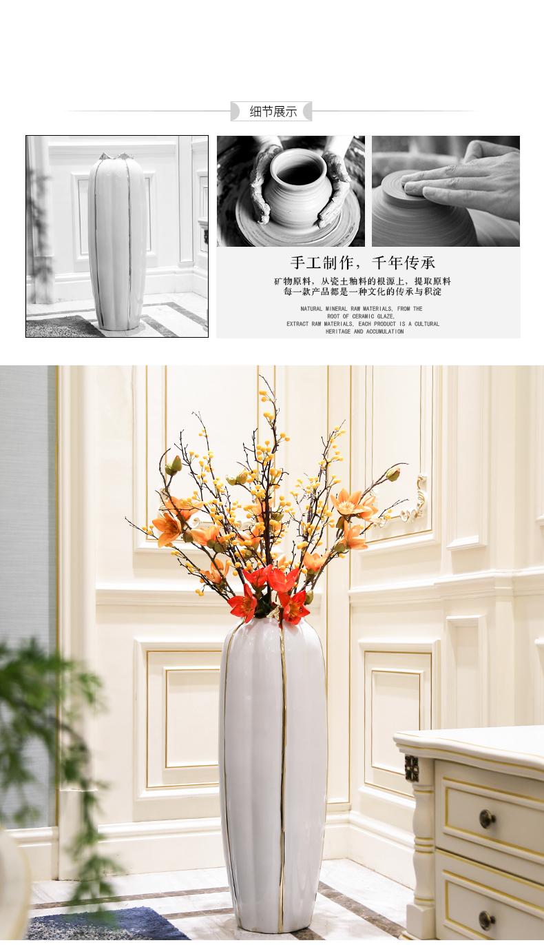 Light key-2 luxury furnishing articles vase flower arranging ceramic sitting room floor bedroom TV ark, Nordic contracted wind flowers, home decoration