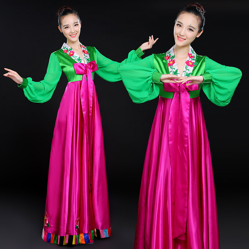 3404ba470c104 Hanbok Palace traditional dance costumes 2019 New ethnic costumes adult  hanbok Korean performance costumes female