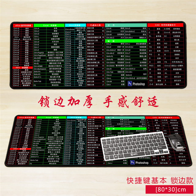 Oversized lock edge thickened non-slip ps shortcut key anime HD sexy mouse keyboard office one custom pad