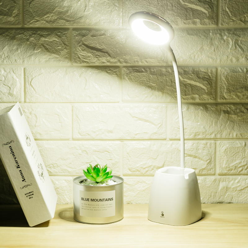 笔筒LED台灯护眼学习USB可充电夹子小迷你卧室床头大学生书桌宿舍