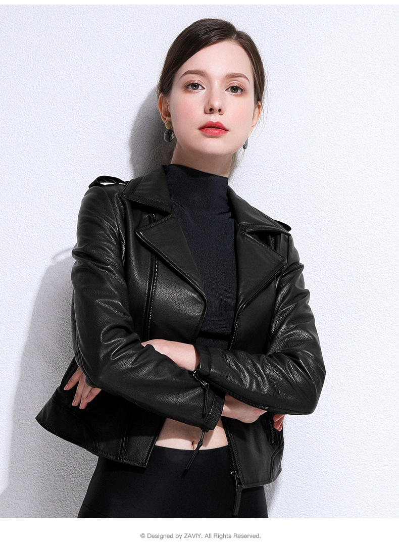 European and American fashion 2020 spring and autumn new Henning sheepskin bodysuit jacket jacket leather woman 58 Online shopping Bangladesh
