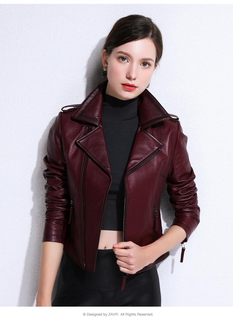 European and American fashion 2020 spring and autumn new Henning sheepskin bodysuit jacket jacket leather woman 53 Online shopping Bangladesh