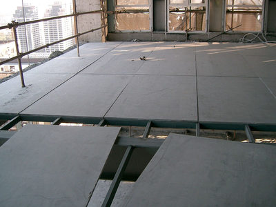 20mm cement pressure plate Loft steel structure attic lipper double floor slave sound insulation